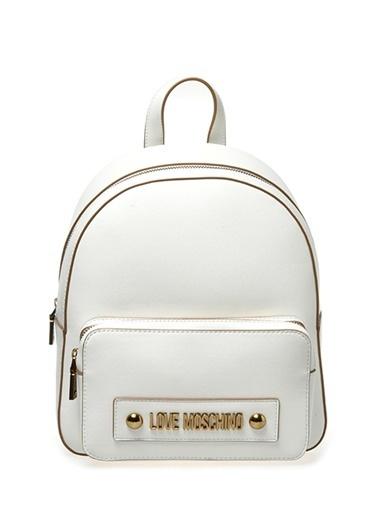 Love Moschino Sırt Çantası Beyaz